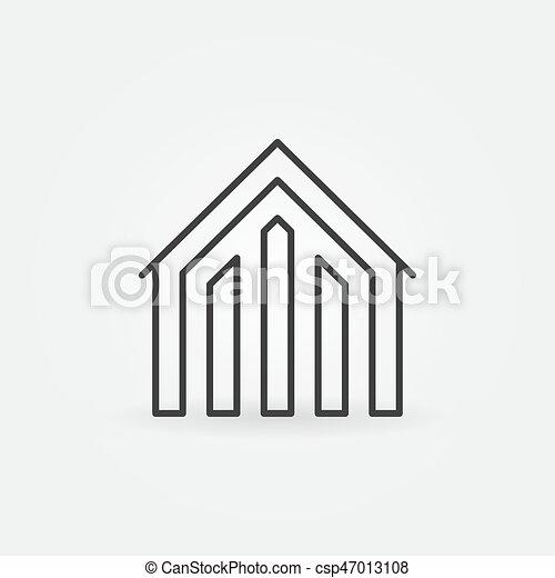 House linear icon - csp47013108