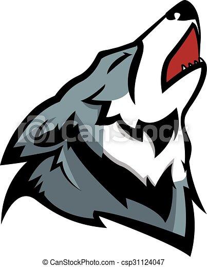 Howling wolf illustration design - csp31124047