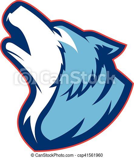 Howling wolf mascot - csp41561960