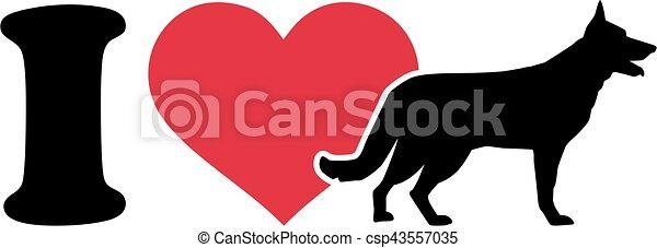 I love German Shepherd icon - csp43557035