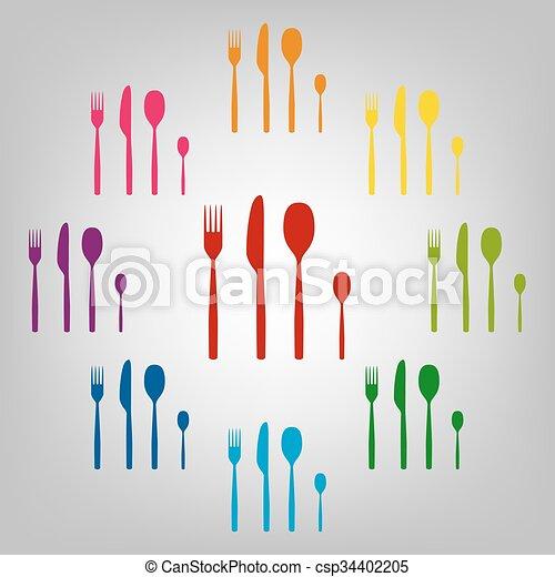 Icons colorfull set - csp34402205