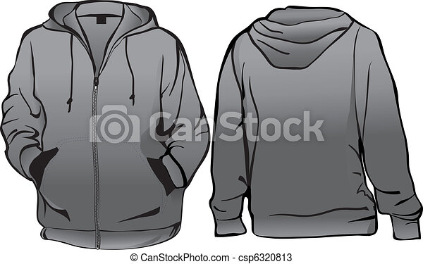 Jacket or sweatshirt template with zipper - csp6320813