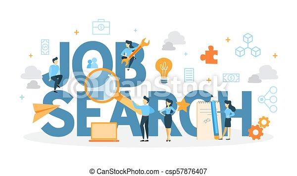 Job search concept. - csp57876407