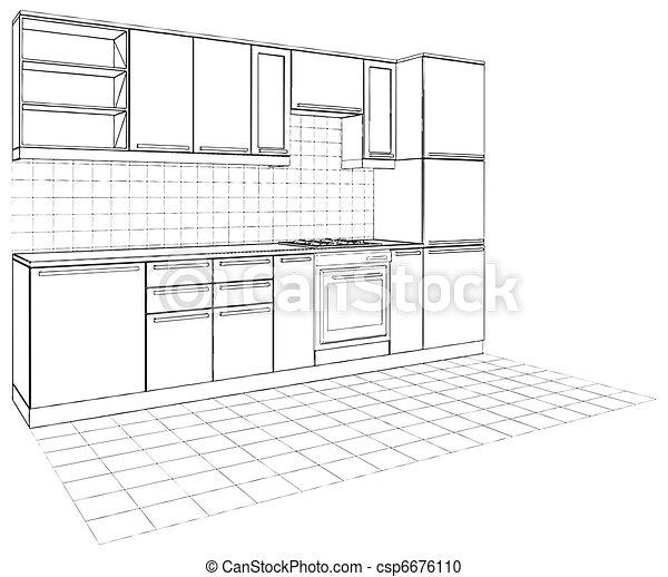 Kitchen - csp6676110
