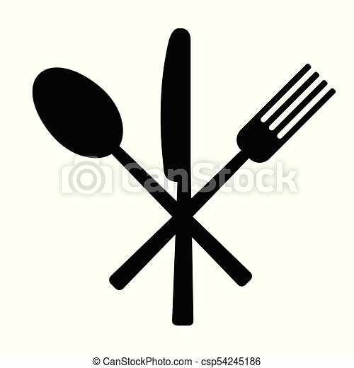 Knife, fork and spoon - csp54245186