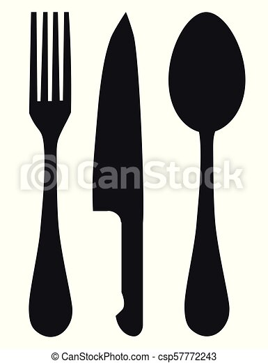 Knife, fork and spoon - csp57772243