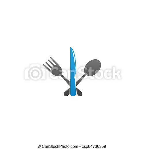 Knife, Fork and spoon icon vector - csp84736359