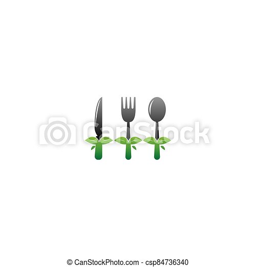 Knife, Fork and spoon icon vector - csp84736340