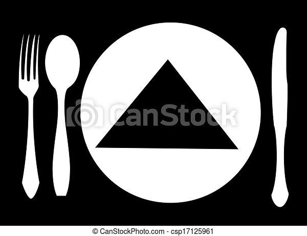 knife, fork and spoon vector - csp17125961