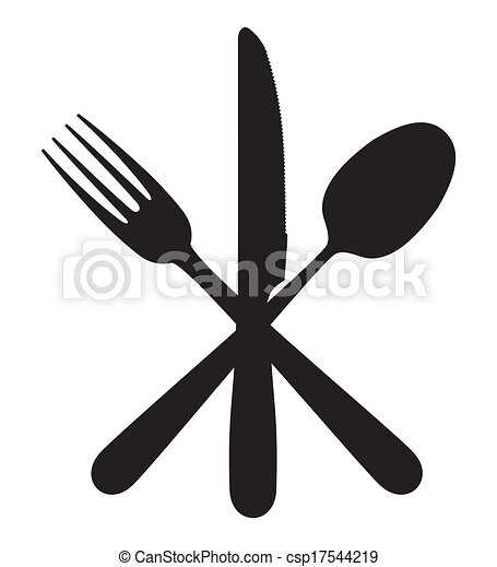 Knife, fork and spoon - csp17544219