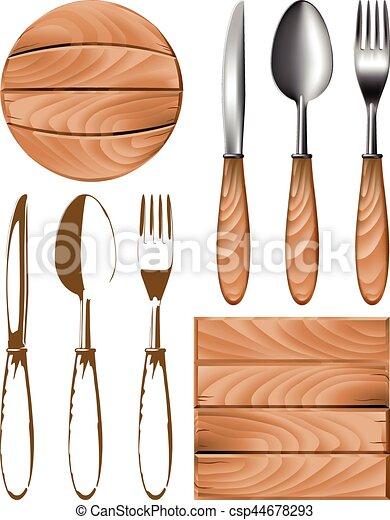 knife fork spoon tree - csp44678293