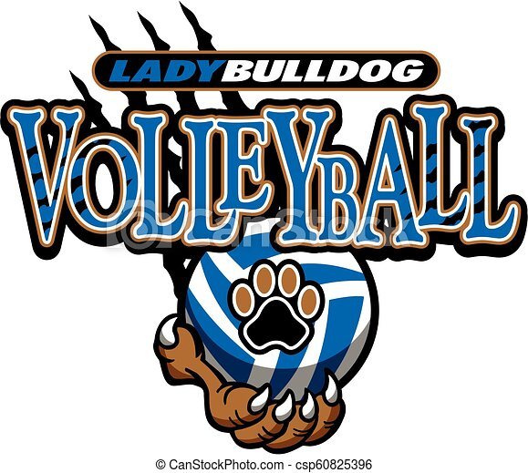 lady bulldog volleyball - csp60825396