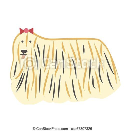 Lap-dog flat illustration - csp67307326