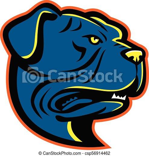 Leavitt Bulldog-HEAD-MASCOT - csp56914462