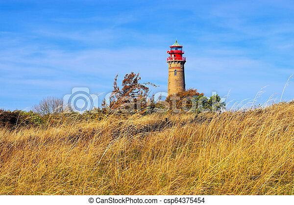 lighthouse Kap Arkona, Ruegen Island in Germany - csp64375454