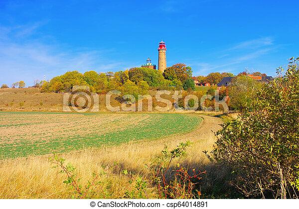 lighthouse Kap Arkona, Ruegen Island in Germany - csp64014891