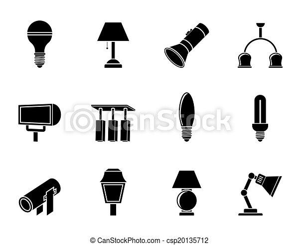 lighting equipment icons - csp20135712
