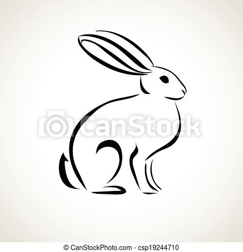 line drawing of the rabbit - csp19244710