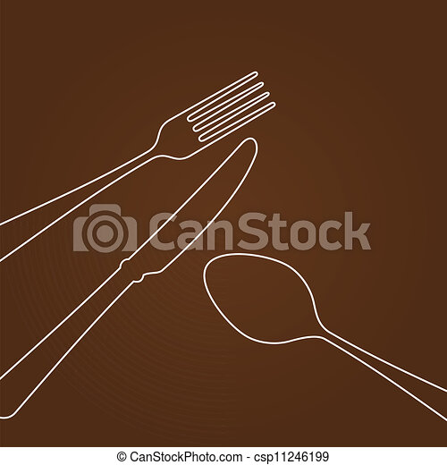 Lines forming Cutlery - csp11246199