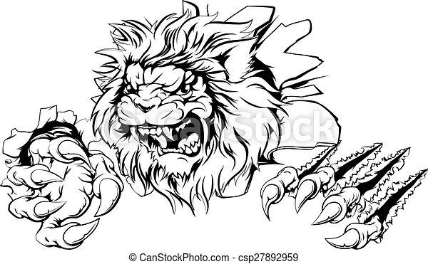 Lion claw breakthrough - csp27892959