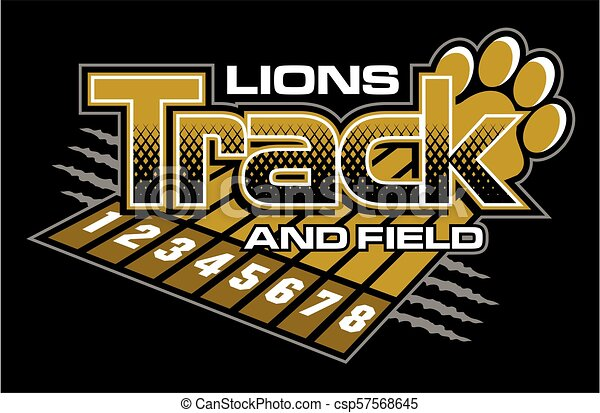lions track and field - csp57568645