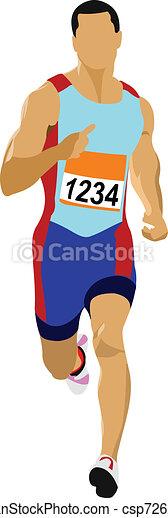Long-distance runner. Short-distan - csp7262794