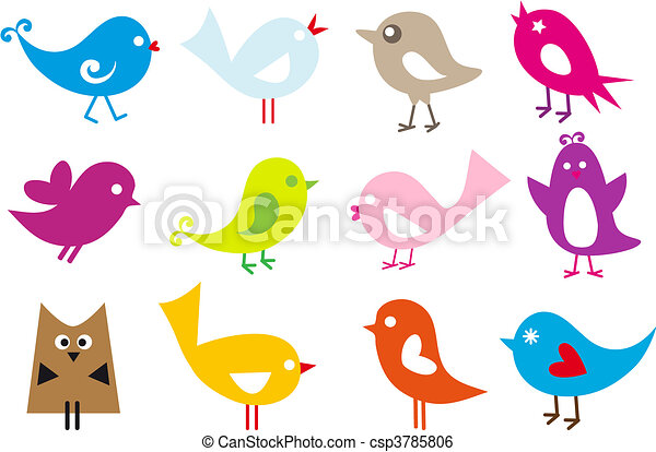 lovely birds - csp3785806