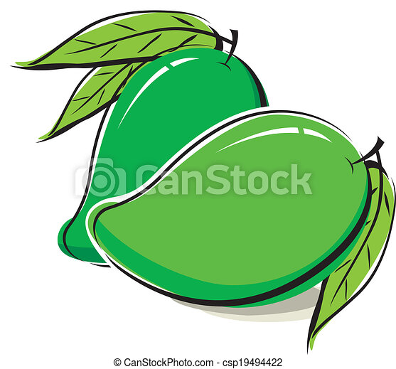 Mango design on white background - csp19494422