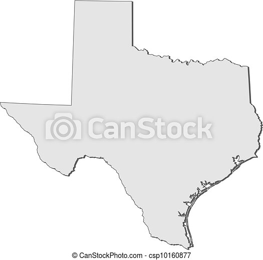 Map of Texas (United States) - csp10160877