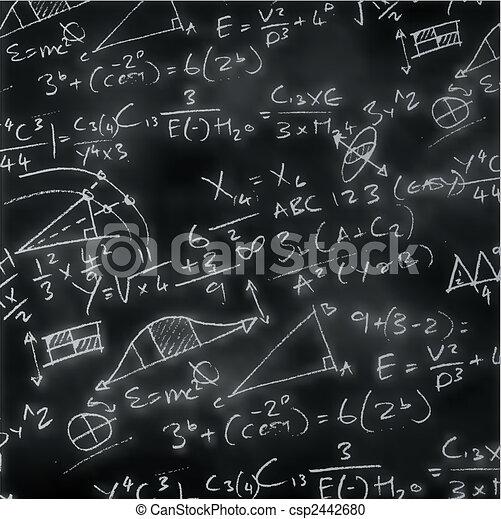 Maths Chalk Board - csp2442680