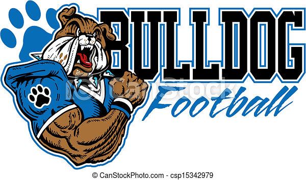 mean bulldog football design - csp15342979