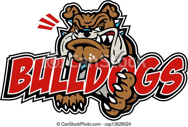 mean bulldog with wording - csp13628024