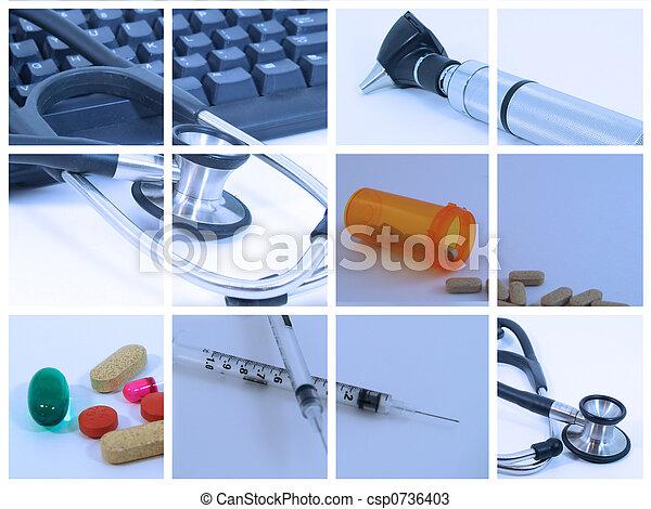 Medical Collage - csp0736403