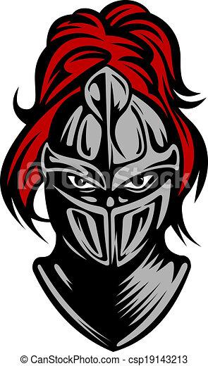 Medieval dark knight - csp19143213