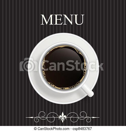 Menu for restaurant, cafe, bar, coffeehouse - csp8483767