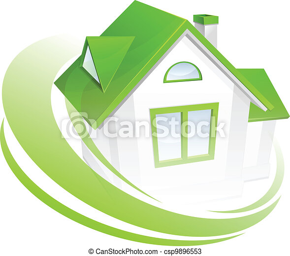 Model of house with circle - csp9896553