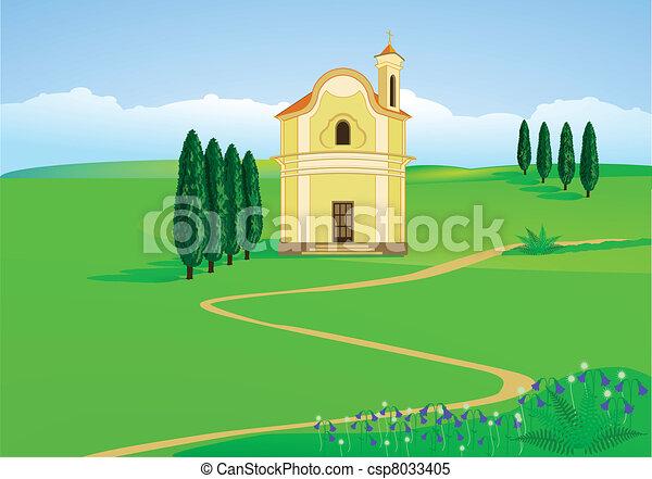 mountain chapel - csp8033405