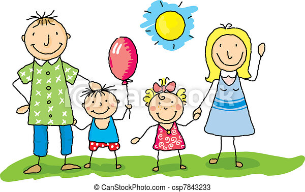 my family is happy - csp7843233