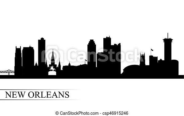 New Orleans city skyline silhouette background - csp46915246
