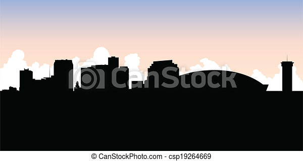 New Orleans Silhouette - csp19264669
