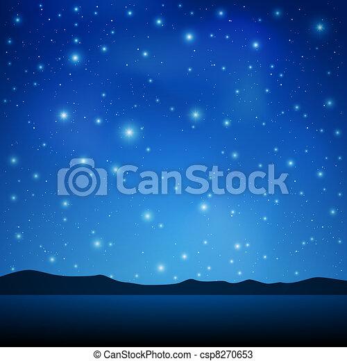 Night Sky - csp8270653