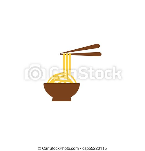 Noodle in a bowl logo template - csp55220115