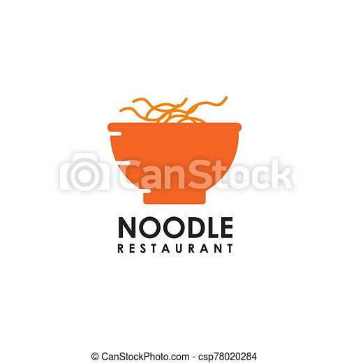 Noodle restaurant with bowl icon vector illustration - csp78020284