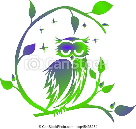 Owl, Night - csp45438254