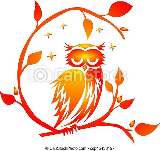 Owl, Night - csp45438197
