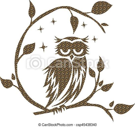 Owl, Night - csp45438340