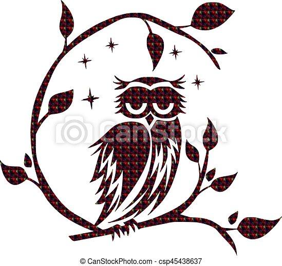 Owl, Night - csp45438637
