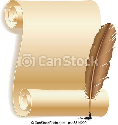 Paper and feather. - csp5814220