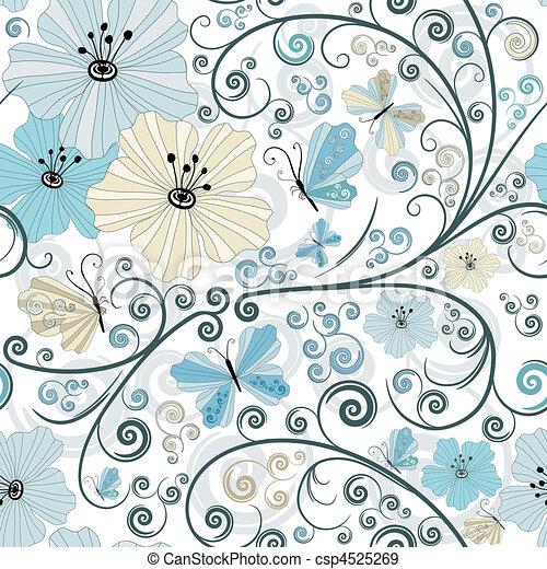Pastel seamless floral pattern - csp4525269