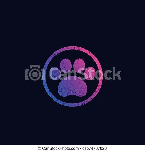 paw print, vector - csp74707820